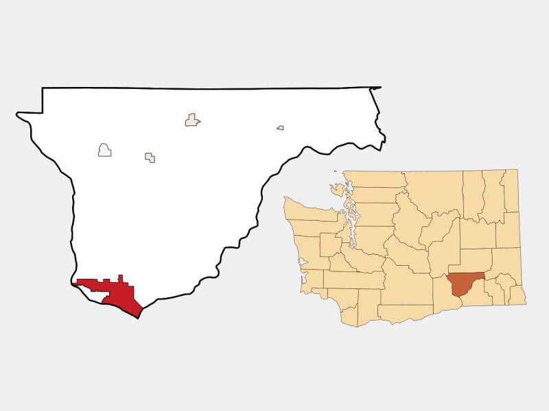 Pasco locator map