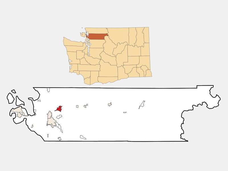 Sedro-Woolley locator map