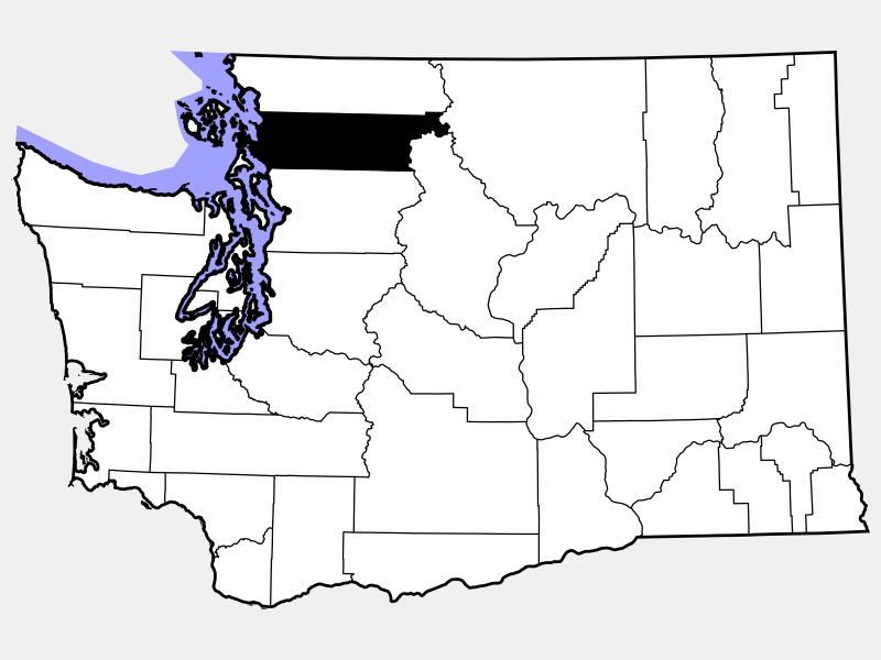 Skagit County locator map