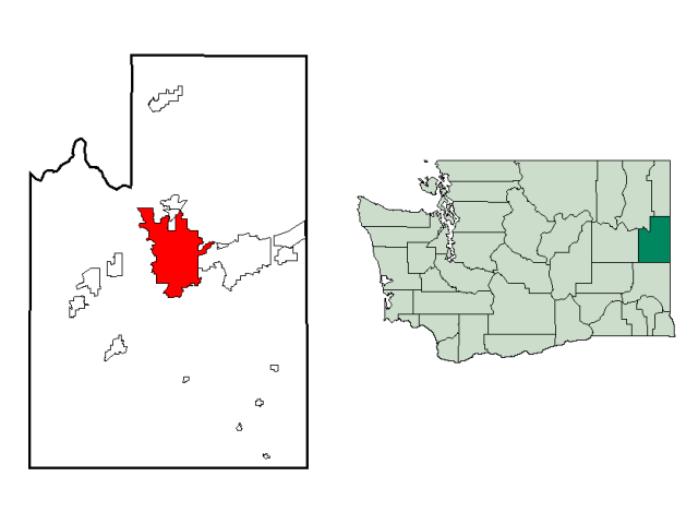 Spokane locator map
