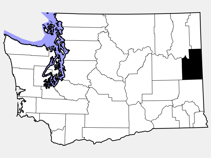 Spokane County locator map