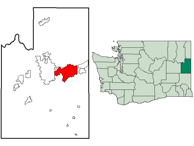 Spokane Valley locator map