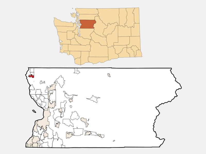 Stanwood locator map