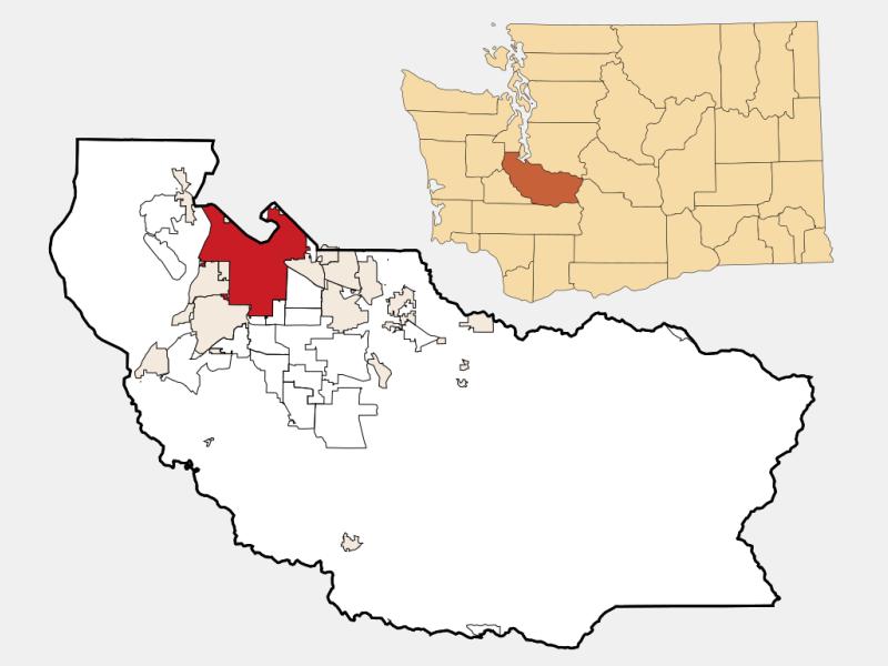 Tacoma locator map