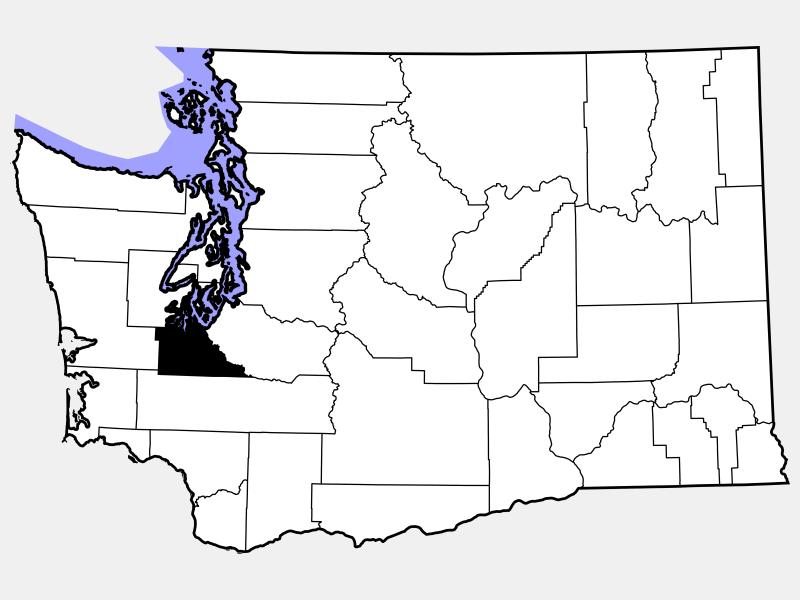 Thurston County locator map