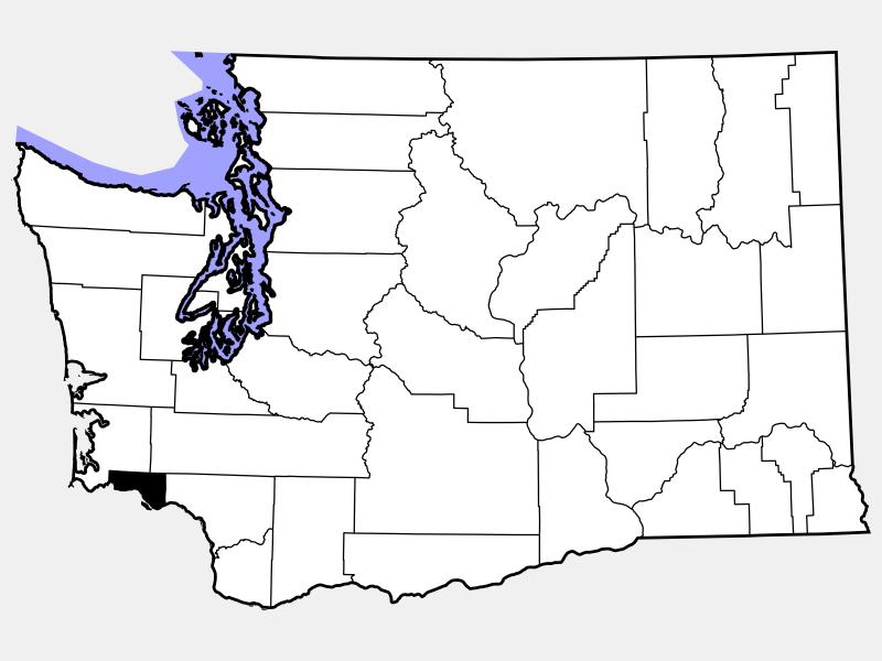 Wahkiakum County locator map