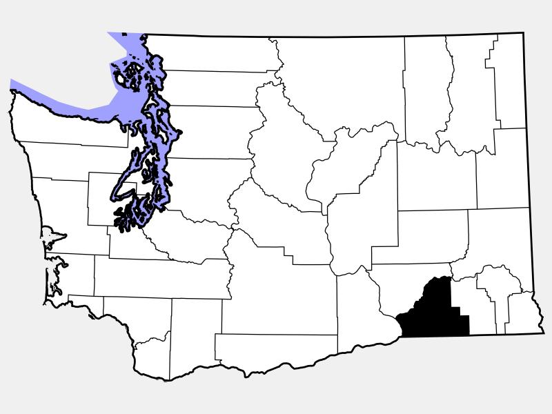Walla Walla County locator map
