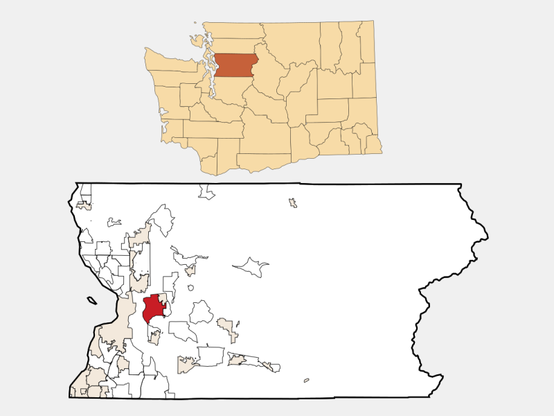 West Lake Stevens locator map