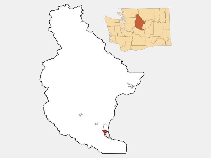 West Wenatchee locator map