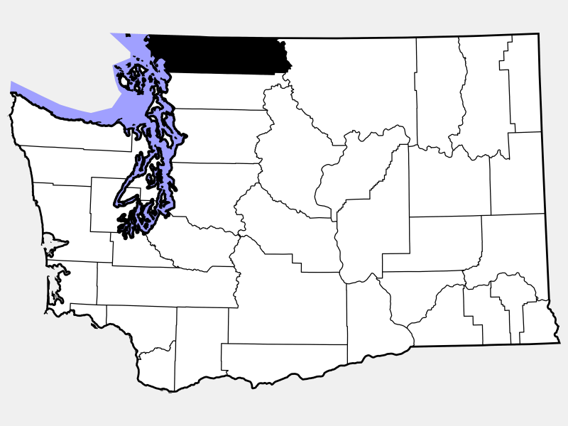 Whatcom County locator map