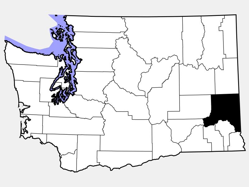 Whitman County locator map