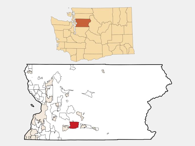 Woods Creek location map