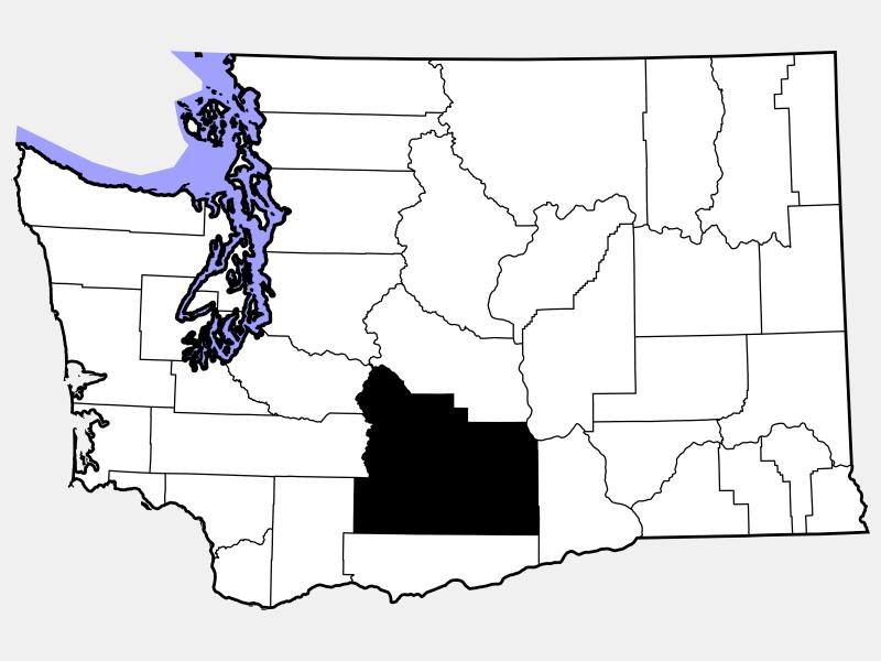 Yakima County locator map