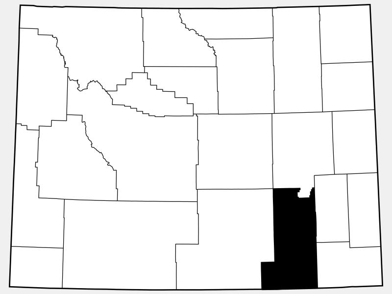 Albany County locator map