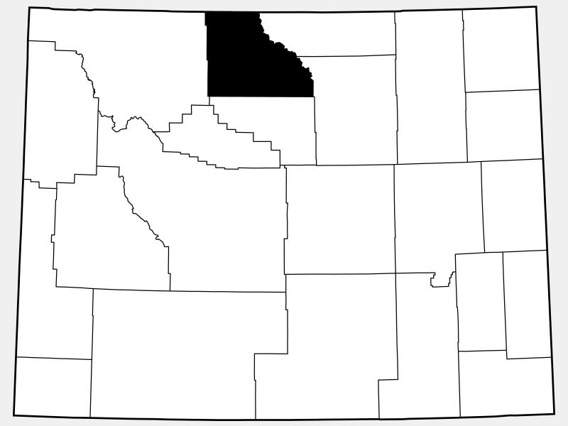 Big Horn County locator map