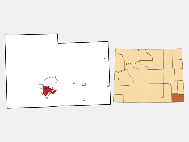 Cheyenne locator map