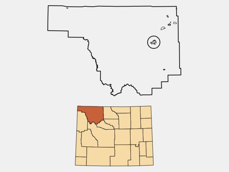 Cody locator map