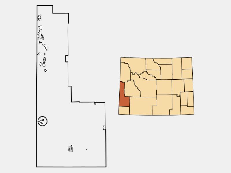Cokeville locator map