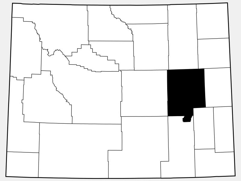 Converse County locator map