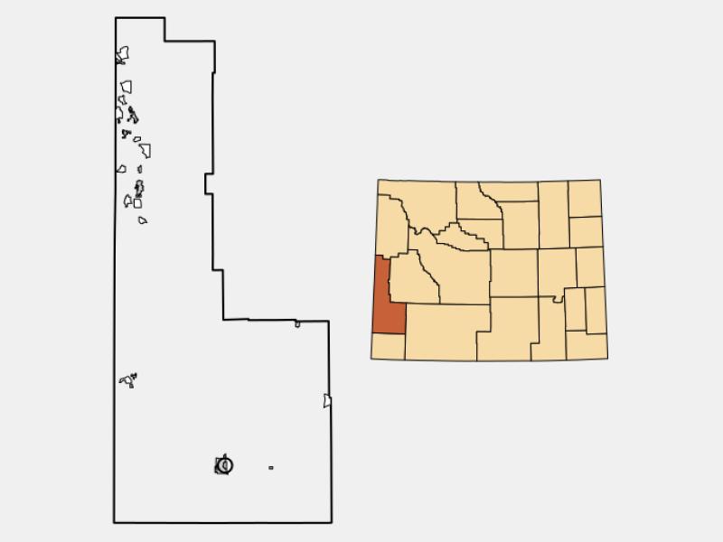 Diamondville locator map