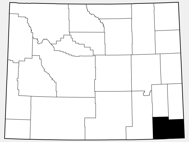 Laramie County locator map