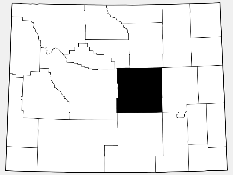 Natrona County locator map