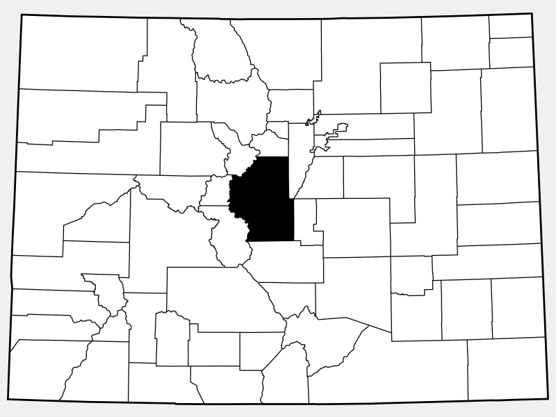 Park County locator map