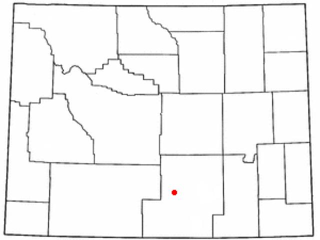 Rawlins locator map