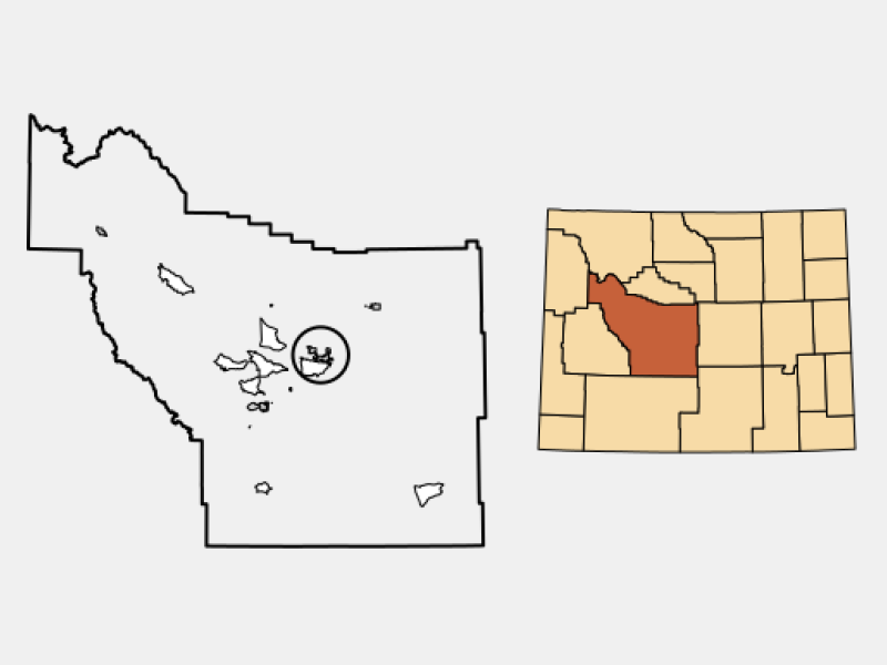 Riverton locator map