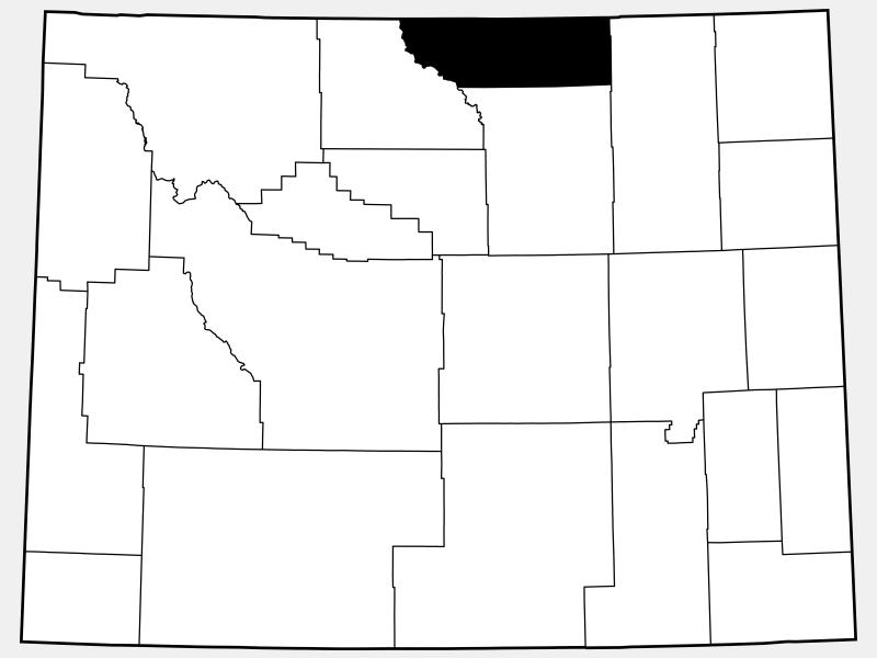 Sheridan County locator map