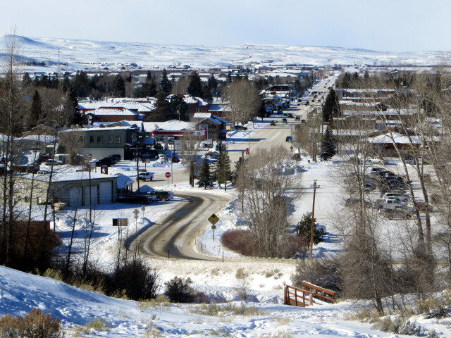 Overlooking Pinedale  WY from the east in the winter  Dec 2016 image