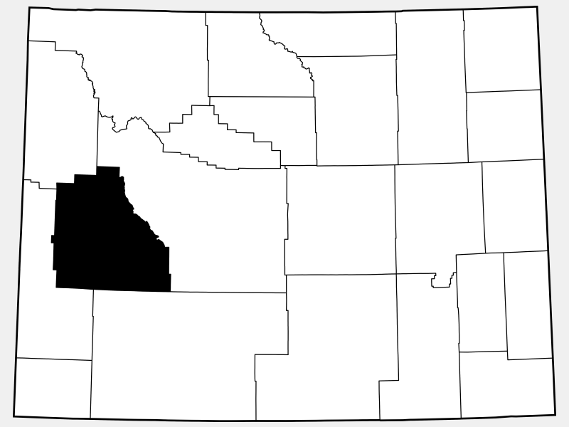 Sublette County locator map