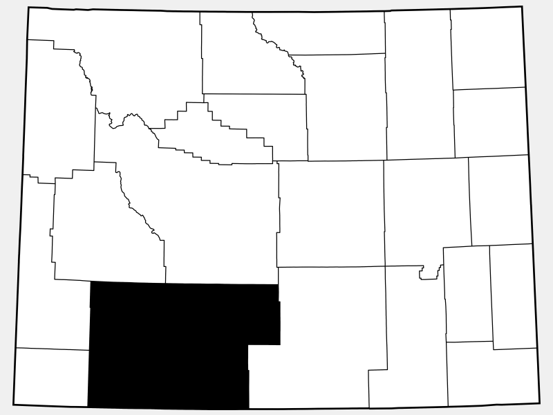 Sweetwater County locator map