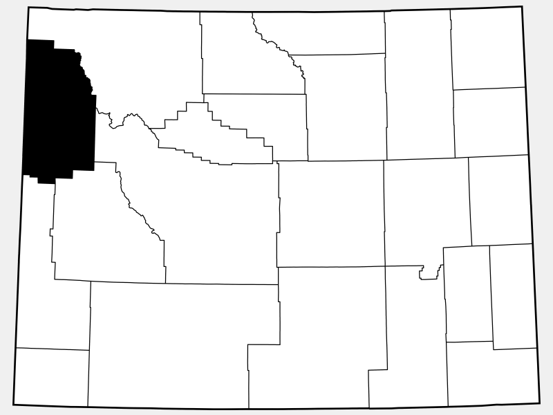 Teton County locator map