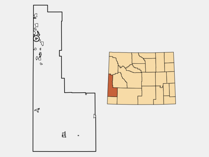 Thayne location map