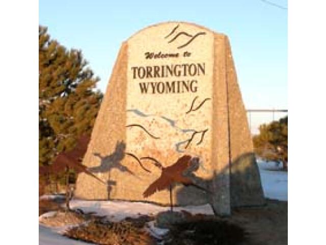 Torrington  Wyoming - Welcome sign image