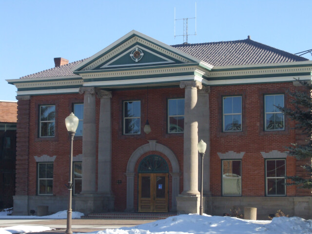 Uinta County Courthouse Evanston Wyoming. image