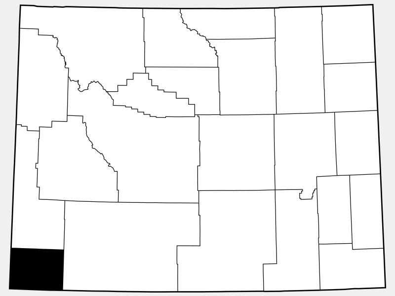 Uinta County locator map