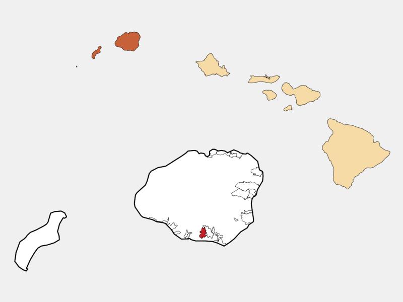 Kalāheo, HI locator map