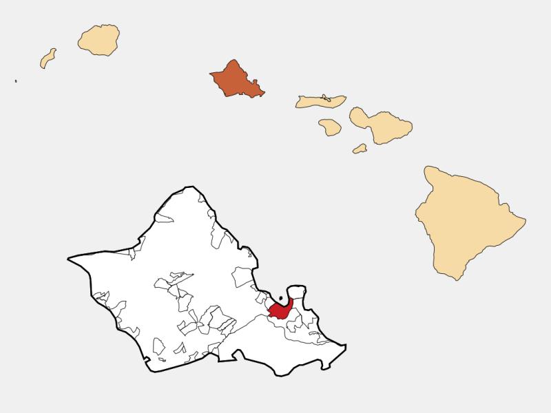 Kaneohe locator map