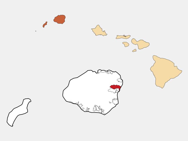 Kapa'a, HI locator map
