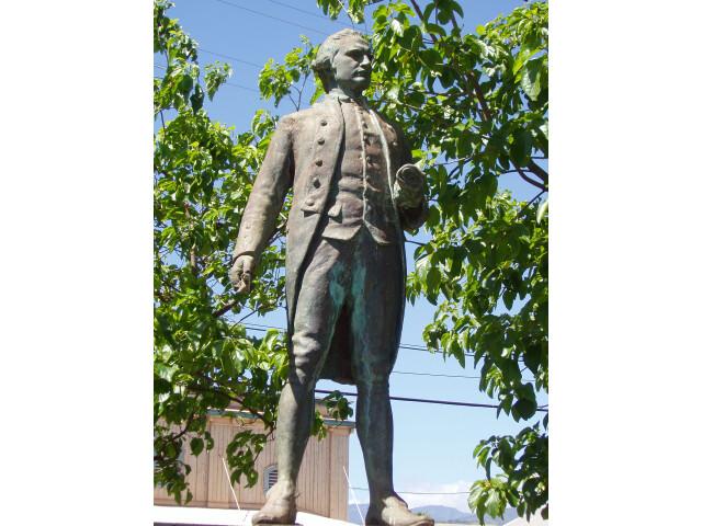 Captain James Cook statue  Waimea  Kauai  Hawaii image