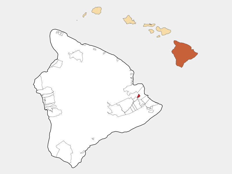 Kea'au location map