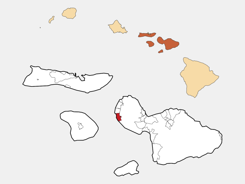 Lahaina locator map