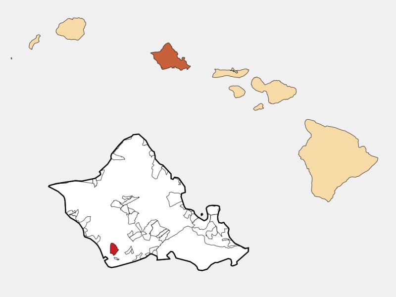 Makakilo City locator map