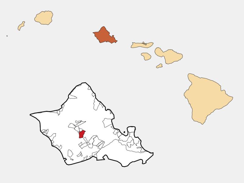 Mililani Town locator map