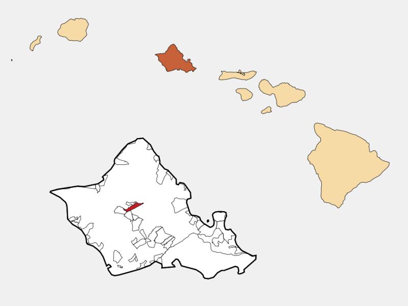 Wahiawā locator map