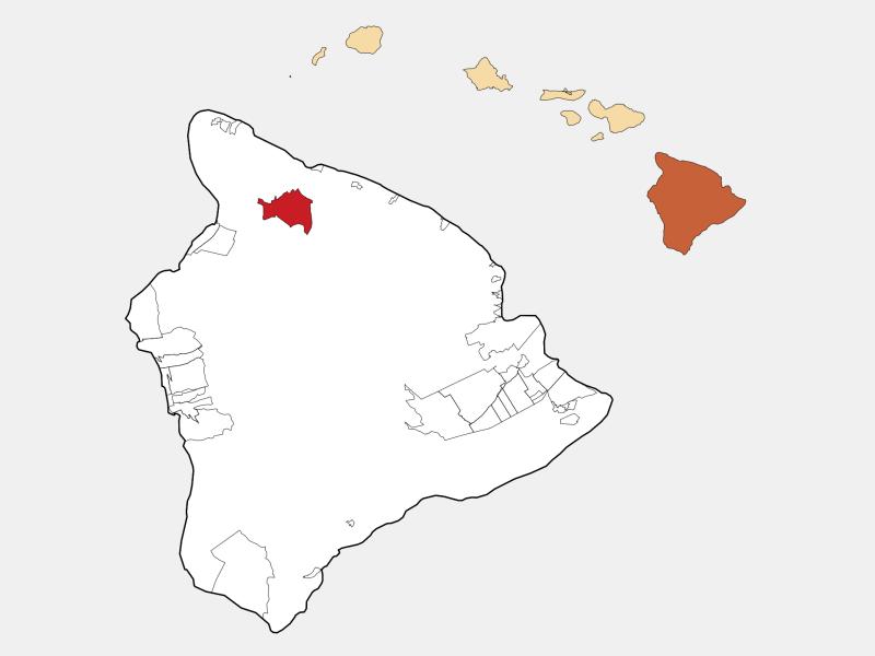 Waimea, HI locator map