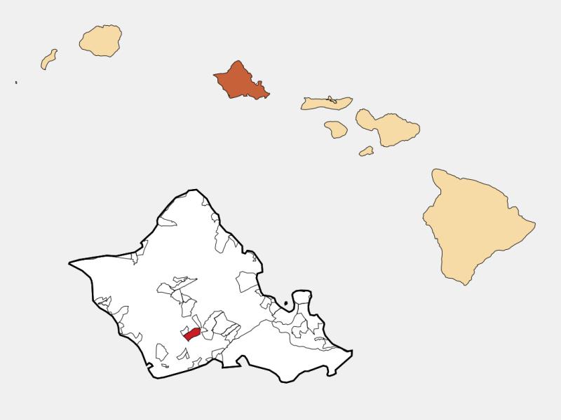 Waipahu locator map