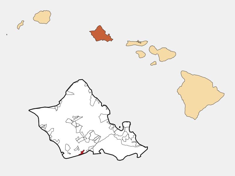 'Ewa Beach locator map